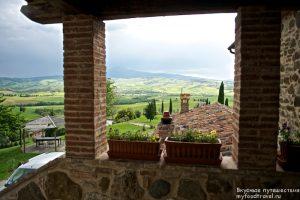 Тосканский пейзаж с виллы
